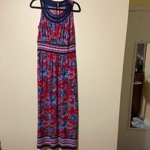 Size lg maxi sleeveless dress